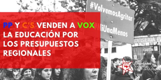PP y Ciudadanos venden a VOX la educación por los presupuestos regionales - JSRMurcia